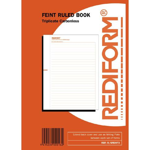 Rediform Manifold Book Feint Triplicate 50 Sets Red