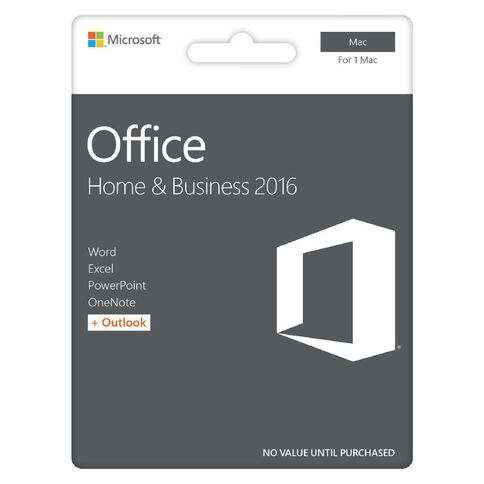 Microsoft Office For Mac Home & Business 2016 Activation Card