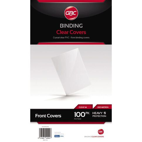 Ibico Binding Cover Transparent 200 Micron 100 Pack Clear