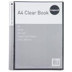 Impact Clear Book Overlay 20 Leaf Black A4