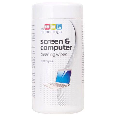 The Clean Range Screen Cleaning Wipes Tub 100 White
