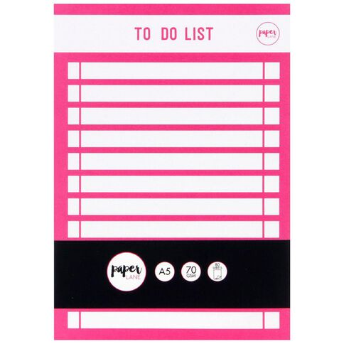 Paper Lane To Do List Magenta A5
