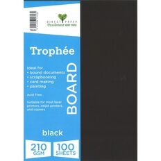 Trophee Board 210gsm 100 Pack Black A4