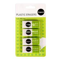 Impact Vinyl Eraser 4 Pack White