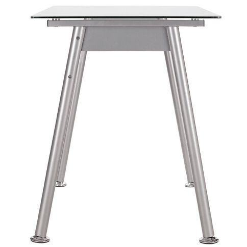 Workspace 1000mm Glass Desk White/Silver