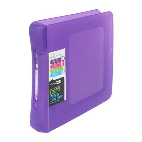 ColourHide Tuff Ringbinder 2D Purple A4