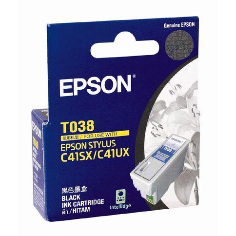 Epson T038 Colour Ink Cartridge Black