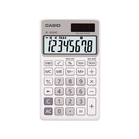 Casio Handheld Calculator SL300 White
