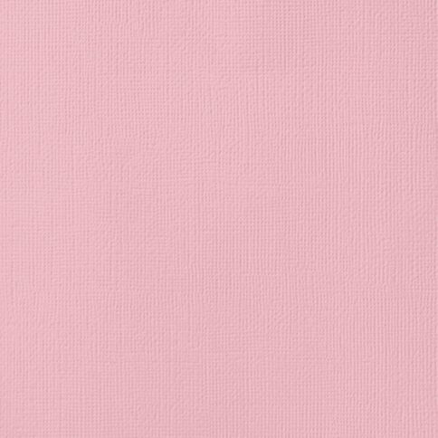 American Crafts Cardstock Textured 12 x 12 Blush Pink