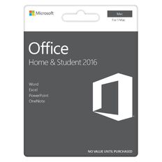 Microsoft Office For Mac Home & Student 2016 Activation Card