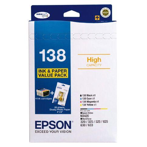 Epson Ink Cartridge 138 Photo Value 4 Pack Multi-Coloured
