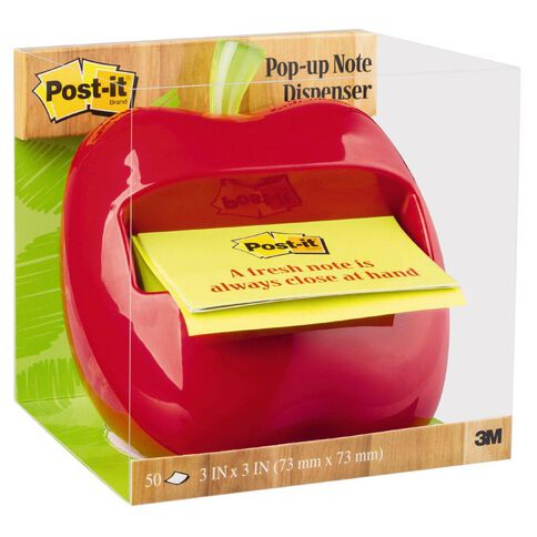Post-It Apple Pop-Up Note Dispenser Apl-330 76mm x 76mm Multi-Coloured