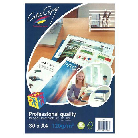 Color Copy Digital Laser 120gsm 30 Pack White A4