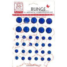 Blings Stick On Bling Blue