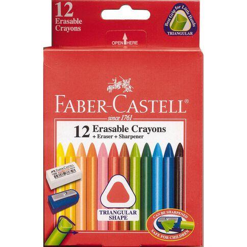 Faber-Castell Erasable Crayons 12 Piece