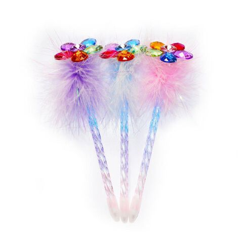 Novelty Pen Fluffy Flower Petals Assorted