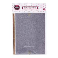 Rosie's Studio Glitter Cardstock 4 Pack Assorted A4