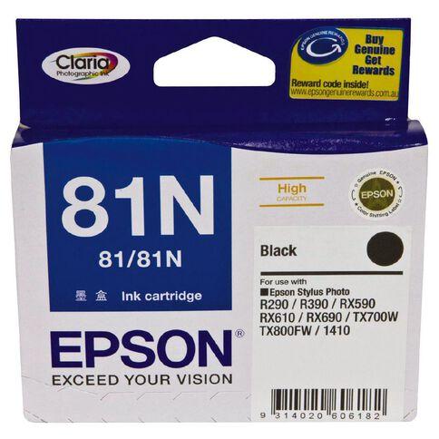 Epson Ink Cartridge 81N Black