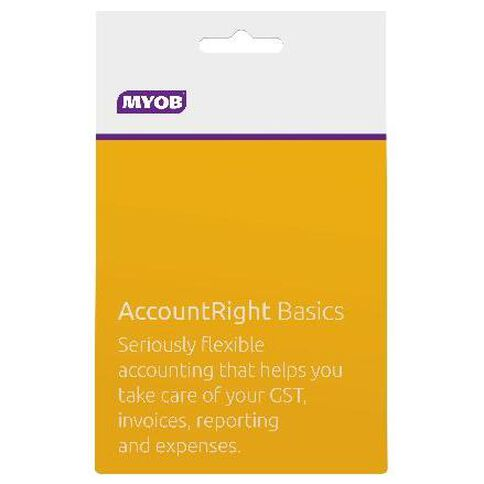 Myob Accountright Basics Activation Card