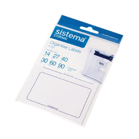 Sistema Organiser Labels 8 Pack White