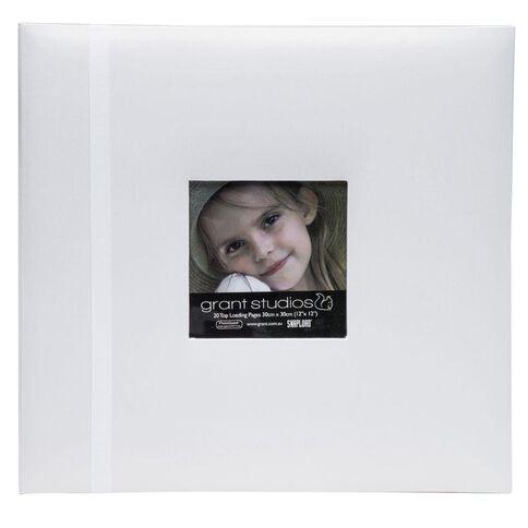 Grant Studios Scrapbook Album 12 x 12 Pearl White
