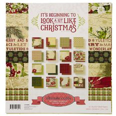 Ultimate Crafts Christmas Beginning Paper Pad 12in x 12in