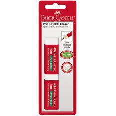 Faber-Castell Eraser PVC Free Large 2 Pack White
