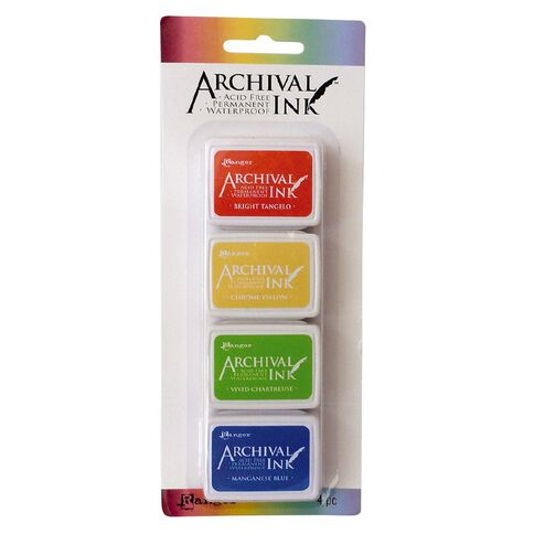 Ranger Archival Mini Ink Pads 4 Pack Spring