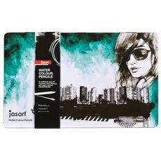Jasart Watercolour Pencil Tin 36 Pack