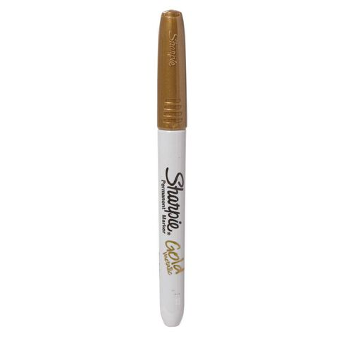 Sharpie Marker Fine Metallic Single Loose Gold