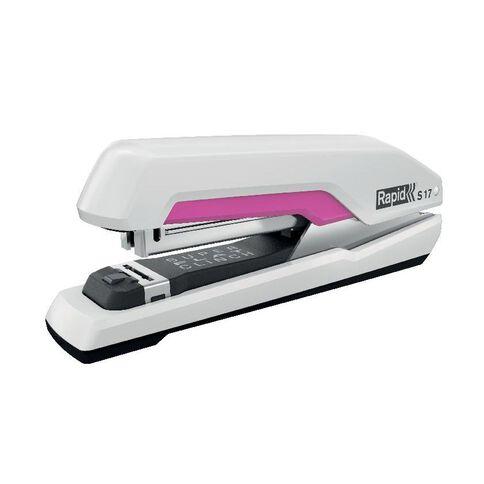 Rapid Stapler S17 Superflat 30 Sheet Fullstrip White/Pink