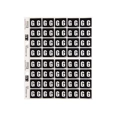 Filecorp Coloured Labels G Black