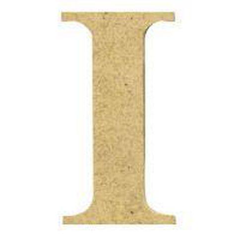Sullivans Mdf Board Alphabet Letter 17cm I Brown