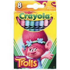 Crayola Trolls Crayons 8 Pack