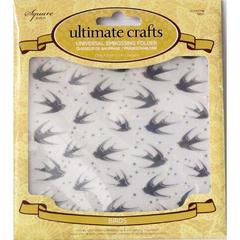 Ultimate Crafts Rambling Rose Embossing Folder Assorted