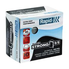 Rapid Staples 9/8 5000 Pack Silver