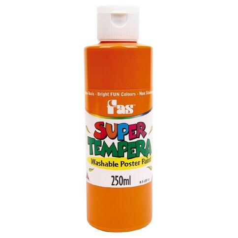 FAS Paint Super Tempera 250ml Orange Orange