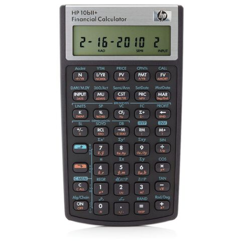 HP Financial Calculator 10Bll+ Black