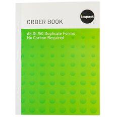 Impact Order Book A5 Duplicate Blue