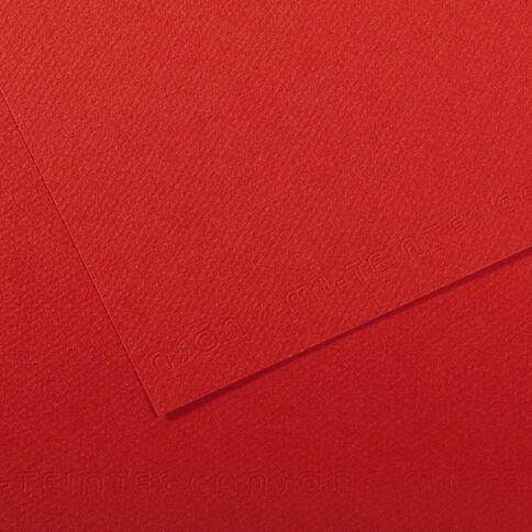 Canson Card Mi-Teintes 50 x 65cm 506 Poppy Red