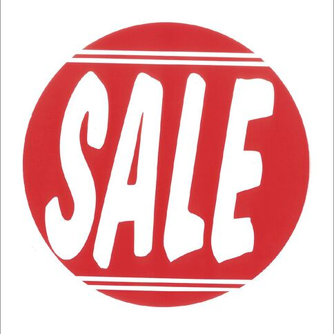 Sale Sign Round Shape S15 Pink