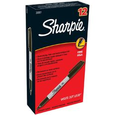 Sharpie Marker Fine 12 Pack Black