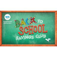 Back To School Savings Club Card $20