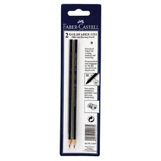 Faber-Castell Pencil Goldfaber B 2 Pack Black