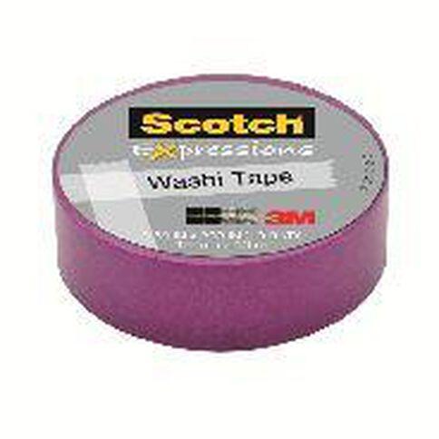 Scotch Washi Craft Tape 15mm x 10m Purple