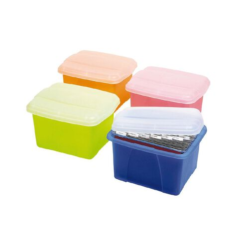Marbig Office In A Box With Clear Lid Pink