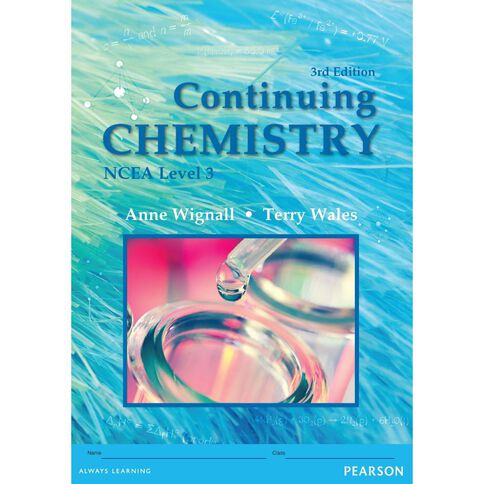 Ncea Year 13 Continuing Chemistry Workbook
