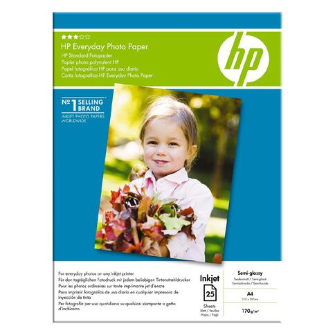 HP Photo Paper Q5451A Glossy 200gsm 25 Pack A4 White