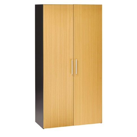 Jasper J Emerge Cupboard 1800 Wood Doors Beech/Ironstone