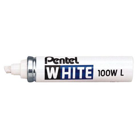 Pentel Marker 100 Chisel 6.5mm White